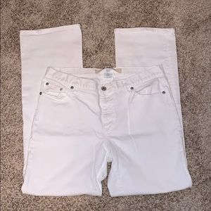 Gap Stretch Slim Fit White Jeans Size 12